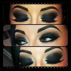Black Smokey Eye @Monica Forghani Baeza we would probably look like Panda bears with this! lmao
