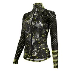 Shebeest Womens Virtue Long Sleeve Cycle Jersey Galatic Print Spry Medium   gt  gt  gt e215e8766