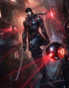 Image cyberpunk art 9 in Urban Fantasy album Arte Ninja, Ninja Kunst, Ninja Art, Arte Robot, Arte Cyberpunk, Armor Concept, Concept Art, Samurai Concept, Character Concept