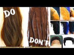 (10) Do's and Don'ts of Realistic Hair Painting: How to Paint Hair - YouTube