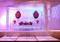 Contemporary Wedding Stage by Decor World Events