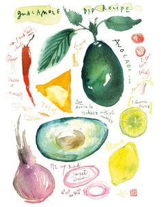 Watercolor recipe from France. Nanna would love this.    8X10 limited editon print. $25.00, via Etsy.