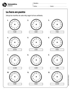 Visit the post for more. Time In Spanish, Telling Time, Teacher Pay Teachers, Teacher Newsletter, Clock, Writing, Homework, Classroom, Languages