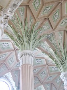 Pink ornate ceiling