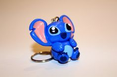 Stitch inspired handcrafted polymer clay keychain keyring from Lilo and Stitch (unofficial) on Etsy, Clay Keychain, Lilo And Stitch, Clay Ideas, Clay Art, Amy, Polymer Clay, Inspired, Inspiration, Manualidades