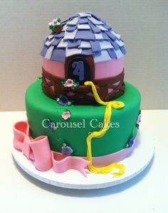 Tangled Repunzel cake