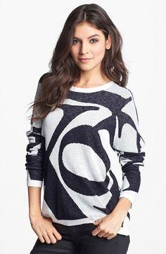 Truehitt Letter Knit Sweater (Juniors) (Online Only) available at #Nordstrom