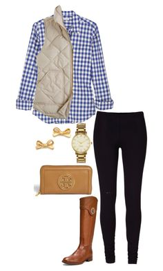 gingham and cream by the-southern-prep on Polyvore featuring polyvore, moda, style, Steven Alan, J.Crew, Tory Burch and Kate Spade