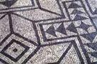 A mosaic at the Roman villa of Fishbourne, first occupied in AD 43
