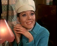 """Diana Rigg in """"The Avengers."""""""