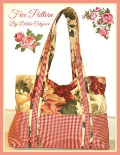 A gorgeous tote bag pattern by Debbie Cosgrove offers a large capacitybagwith six contrasting exterior pocketsand two shoulder straps. The body of this tote bag is sewn with a coordinating print…