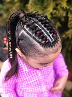 All of these hair-styles will be fairly simple as well as are great for beginners, fast and simple toddler hair styles. Girls Hairdos, Lil Girl Hairstyles, Baddie Hairstyles, Curled Hairstyles, Trendy Hairstyles, Jasmine Hair, Toddler Hair, Love Hair, Hair Dos