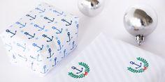 DIY Nautical Printable Christmas Gift Wrap   Funkytime