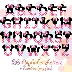 See related image detail Minnie Mouse Theme Party, Minnie Mouse Birthday Decorations, Mickey Mouse Birthday, Disney Letters, Disney Alphabet, Minnie Mouse Stickers, Mickey Minnie Mouse, Minnie Rosa Png, Alfabeto Disney