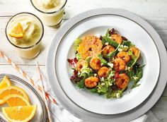 Blackened-Barbecue Shrimp Salad With Orange Dream Shakes Recipe from #PublixAprons