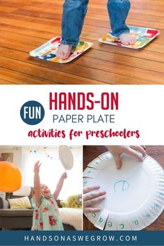 Enjoy these 7 easy paper plate activities for toddlers and preschoolers to do inside at home. Gross motor, fine motor, crafts & learning. Kindergarten Goals, Kindergarten Lesson Plans, Kindergarten Activities, Preschool Letters, Letter Activities, Montessori Activities, Gross Motor Activities, Educational Activities For Kids, Toddler Activities