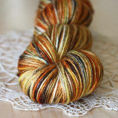 Pumpkin Spice / Hand Dyed Yarn