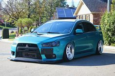 #Mitsubishi_EvoX #Slammed #Stance #Bagged #Modified