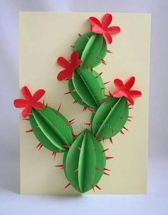 Cactus Make an awesome dimensional paper cactus. Paper Cactus Make an awesome dimensional paper cactus.Make an awesome dimensional paper cactus.Paper Cactus Make an awesome dimensional paper cactus.Make an awesome dimensional paper cactus. Kids Crafts, Summer Crafts, Diy And Crafts, Family Crafts, Easy Crafts, Preschool Crafts, Diy Paper, Paper Art, Paper Crafting