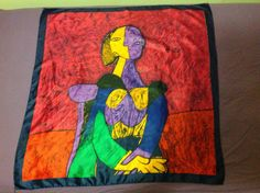 Vintage Picasso Abstract Woman Silk by Vintagewearsforever on Etsy, $15.00
