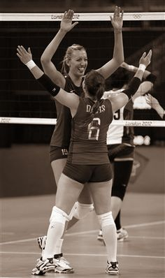 Jordan Larson and Nicole Davis - London 2012