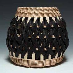 Walnut and black Penland Pottery Basket by JustaBunchofBaskets,