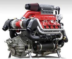 (BANKS Dura-Max Twin-Turbo & Supercharger Marine V8 Engine)