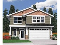 Eplans Traditional House Plan - Pleasant Facade, Narrow Footprint - 1691 Square Feet and 3 Bedrooms from Eplans - House Plan Code HWEPL66706