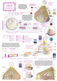 Cinco proyectos preseleccionados para un punto de información para San Sebastián 2016 Architecture Collage, Architecture Drawings, Architecture Portfolio, Architecture Design, Bubble Diagram, Presentation Design, Designs To Draw, Illustrations Posters, The Incredibles