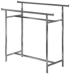 Whitmor Supreme Double Rod Rolling Garment Rack