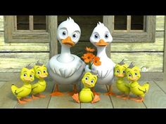 Five Little Ducks Went Out One Day - Nursery Rhymes by HeyKids Duck Nursery, Kids Nursery Rhymes, Little Duck, Five Little, Rhymes For Babies, Spanish Songs, Itsy Bitsy Spider, School Songs, Music Videos