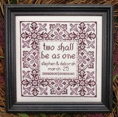My Big Toe Designs Wedding, The - Cross Stitch Pattern. Stitched on 34 count Cafe-au-Lait Legacy Linen with Gentle Art Sampler Threads (Briar yds. Cross Stitch Love, Cross Stitch Samplers, Counted Cross Stitch Kits, Cross Stitching, Cross Stitch Embroidery, Cross Pictures, Wedding Cross Stitch Patterns, Toe Designs, Needlework Shops
