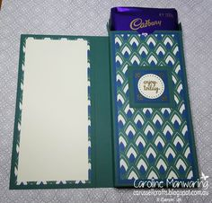 Stampin' Up! Eastern Palace Suite products. Masculine Chocolate Box Card.