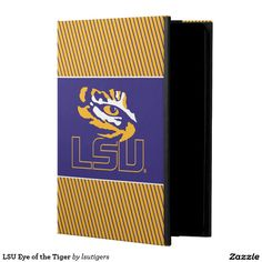LSU Eye of the Tiger iPad Air Covers   Get your official Louisiana State University gear here! Personalize your own LSU merchandise on Zazzle.com! Represent your school spirit by customizing these products with your Class Year, name, club, or sport. This Louisiana State gear makes a great gift for graduating seniors, new students, or alumni looking to show off their Tiger Pride.