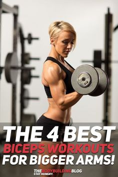 The 4 Best Biceps Workouts for Bigger Arms! Everybody loves big arms, let's be honest. These 4 workouts help you grow bigger arms in four different ways - 1) build muscle mass on your arms; 2) add muscle definition to your arms; 3) workout the shorthead of the biceps so that your arms look bigger from all angels; and 4) workout the peak of the biceps so that your arms look even bigger when flexing! Check them out #fitness #exercise #exercises #workout #gym