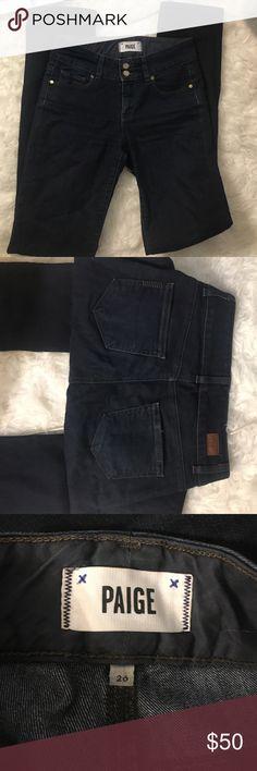 Paige denium dark wash straight leg jeans Excellent condition! Great jeans Paige Jeans Jeans Straight Leg