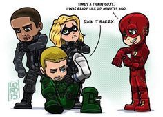 Fan art of 'Team Arrow' and 'The ⚡️⚡️ Flash' I Love Series, Cw Series, Superhero Shows, Superhero Memes, Flash Superhero, O Flash, Flash Arrow, Supergirl Dc, Supergirl And Flash