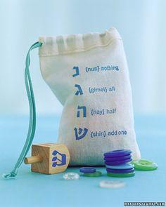 Hanukkah Dreidel Bag