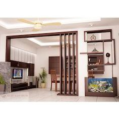 Wood Partition, वुड पार्टीशन, Wood Partition - Right Ways Decor, Bengaluru Wood Partition Design, Living Room Partition Design, Ceiling Design Living Room, Living Room Designs, Wall Partition, Wooden Partitions, Minimalist Bedroom, Inside Design, Home Interior Design