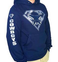 bb159a122 Dallas Cowboys Superman Hoodie by CustomTeezCT on Etsy