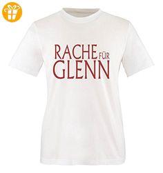 Comedy Shirts - RACHE FÜR GLENN - WALKING DEAD - Mädchen T-Shirt - Weiss / Rot Gr. 110-116 - Shirts mit spruch (*Partner-Link)