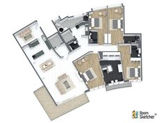 It's Floor Plan Friday! Here's one of our favorite 3D Floor Plans. With RoomSketcher you can create your own floor plans or have us create them for you. See how - http://www.roomsketcher.com/features/ready-made-floor-plans/