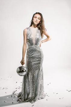 Shopping for a wedding dress? We've combed through the latest looks from the bridal catwalks to bring you the top 10 wedding dress trends for Metallics and bows and blooms, oh my! Wedding Dress Trends, Wedding Gowns, Bridesmaids And Mother Of The Bride, Sequin Bridesmaid Dresses, Sequin Wedding, Sweet Caroline, Metallic, Wedding Inspiration, Sequins