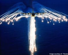 "AC-130 Spectre Gunship ""Releasing Angel Wing Flares"""