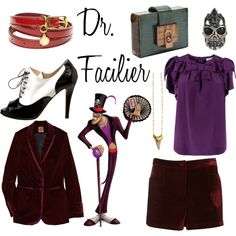 "Disney-inspired clothing ideas!    ""Disney: The Princess and the Frog - Dr. Facilier"" by belleoftheball on Polyvore"