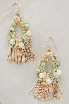 Fringed Wreath Earrings #anthropologie