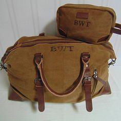 e618feba38 Men s Monogrammed Duffle Bags-Weekender Travel Bags in Canvas and ...
