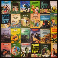 Ladybird Books celebrate 100 years since going to print this week. Today you've been giving them a despicably modern makeover. Worst Album Covers, Book Covers, Laughing Pictures, Brandy Snaps, Bad Album, Ladybird Books, Twisted Humor, Man Humor, Cool Things To Make