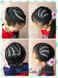 Diagonal Dutch Braid Hairstyle Eth Ordm Magencutehairstyles D In Ghana Braids Hairstyles, Girl Hairstyles, Braided Hairstyles, Hairdos, Braids For Short Hair, Braids For Kids, Braid Hair, Kid Braid Styles, Long Hair Styles