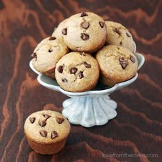 Banana chocolate chip muffins.  Perfect balance of delicious and healthy - my daughter's daily breakfast.
